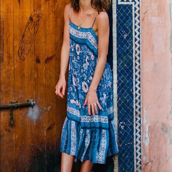 Spell & The Gypsy Collective Dresses & Skirts - Spell and the gypsy zahara navy midi dress